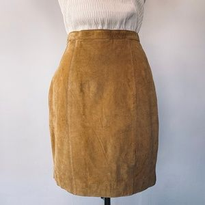 EUC Vintage Suede Mini Skirt